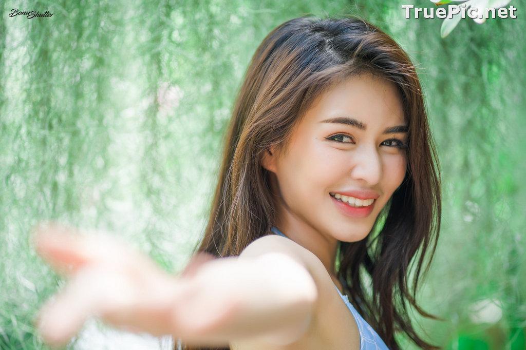 Image Thailand Model - Poompui Tarawongsatit - Summer Blue Bikini Set - TruePic.net - Picture-10