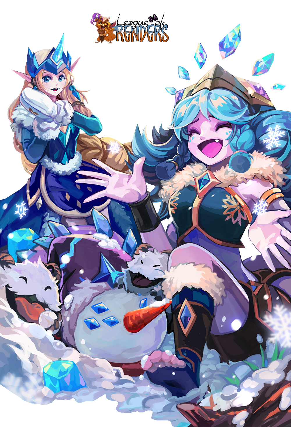 RENDER Snow Man Yi, Winter Wonder Soraka & Neeko