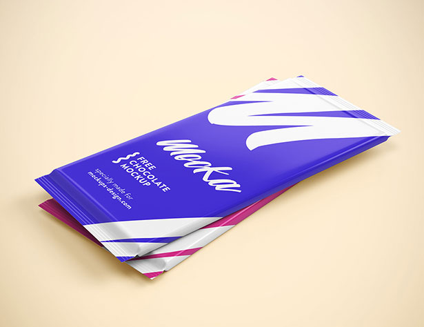 Gratis Mockup Packaging/Kemasan PSD 2018 - Chocolate Packaging mockup PSD