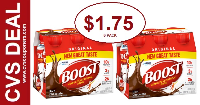 Boost Original Shakes CVS Deal $1.75  7/7-7/13