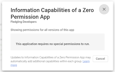 Picture of an app with no permission