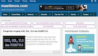 Blog Mastimon sebagai ladang duit