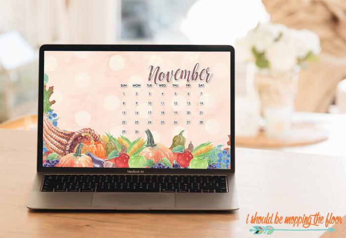 November Desktop Calendars to Download