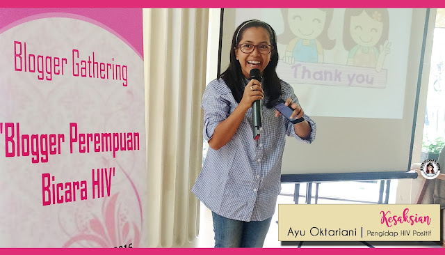 Sharing Session HIV oleh Ayu Oktariani