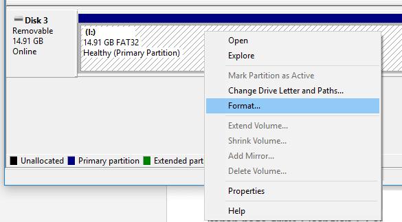 Format FD RAW
