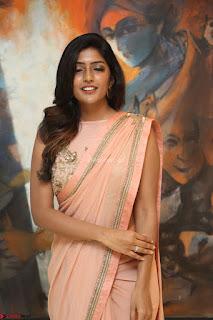 Eesha Rebba in beautiful peach saree at Darshakudu pre release ~ Exclusive Celebrities Galleries