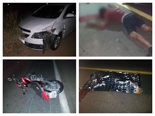 Dois graves acidentes deixaram duas vítimas fatais na BR-230