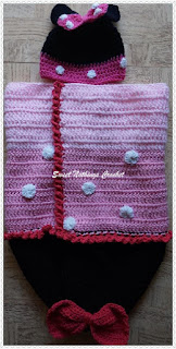 free crochet Minnie Mouse cocoon pattern