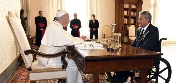 Ambos líderes estuvieron reunidos en el Vaticano por primera vez. El encuentro duró unos 42 minutos.