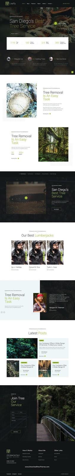 Leafty - Green Joomla Template