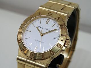 BVLGARI LCV35G ディアゴノ 金無垢腕時計を買取ました