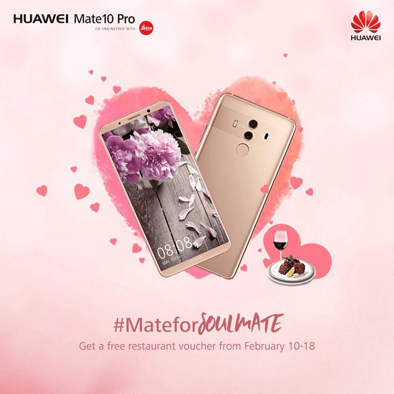 Huawei announces Valentine's 2018 promo
