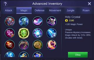holy crystal mobile legends