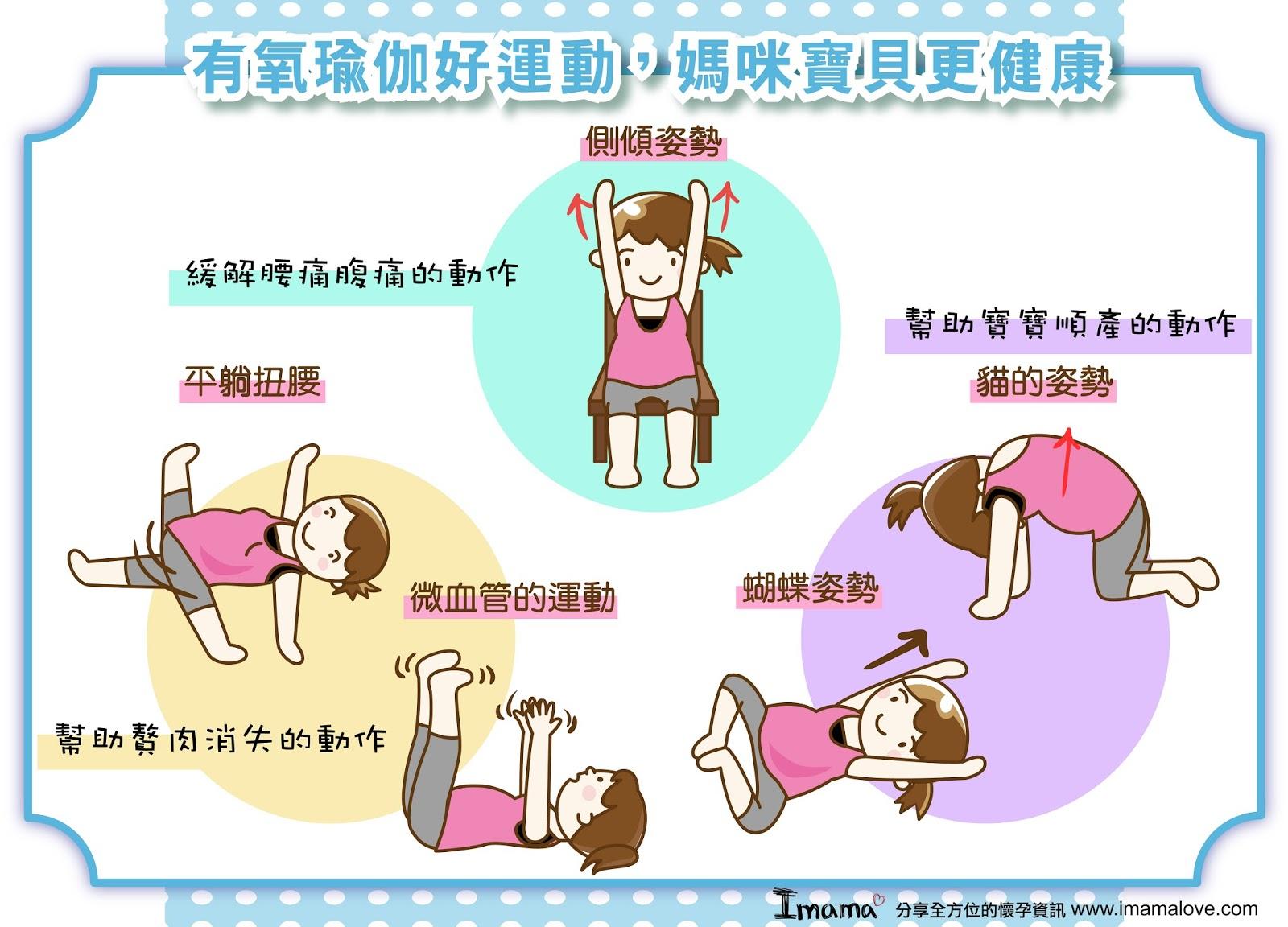 有氧瑜伽好運動,媽咪寶貝更健康 ~ imama 愛媽媽