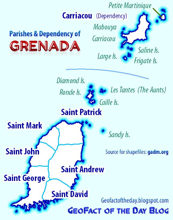 Geofact Of The Day Parishes Of Grenada