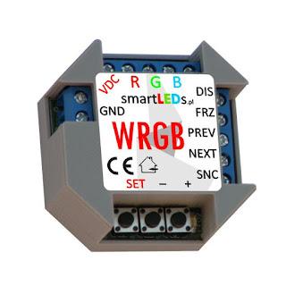 Inteligentny sterownik LED RGB płynnej zmiany kolorów - WRGB smartLEDs