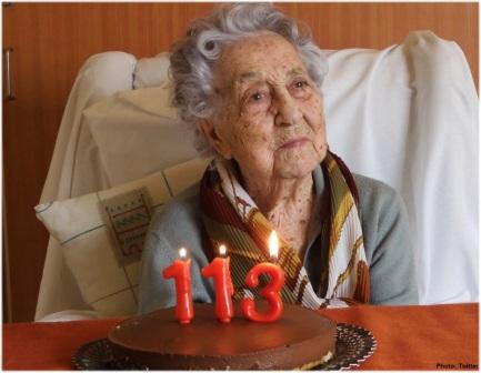 113 old woman Marina Barayans celebrates her birthday