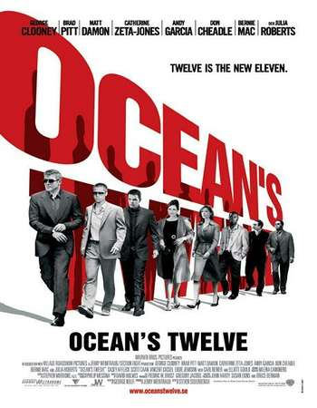 Poster Of Ocean's Twelve 2004 Hindi Dual Audio 600MB BRRip 720p ESubs HEVC Free Download Watch Online downloadhub.in