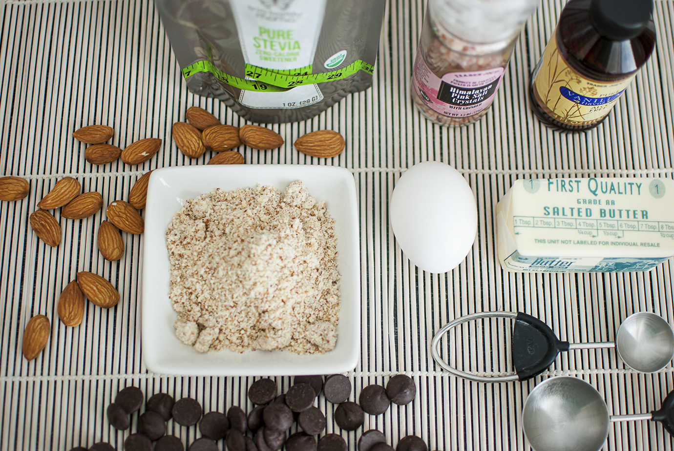 Ingredients for the Low Carb Chocolate Chip Mug Cookie Recipe