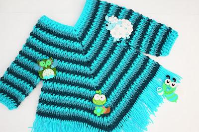 3 - Crochet Imagen Poncho otoñal a crochet y ganchillo por Majovel Crochet