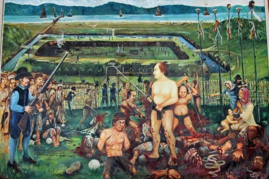 lukisan pembantaian warga Banda oleh VOC