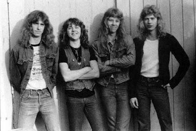 Foto de integrantes de Metallica más jóvenes