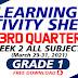 Week 2- Learning Activity Sheets (LAS) Q3 Grade 1