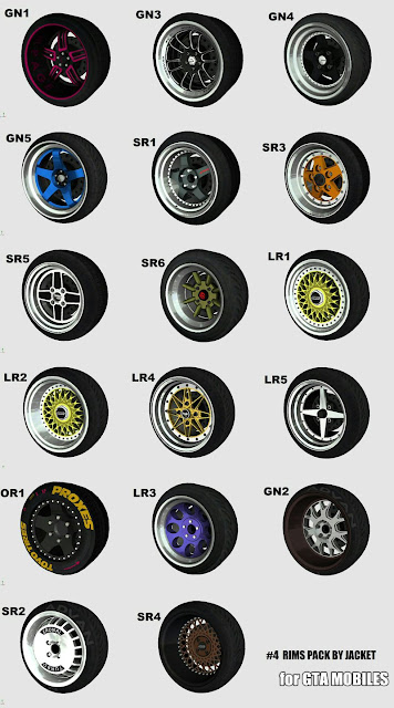 All new colorful rims pack mod gta sa mobile android download jacket