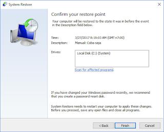 konfirmasi pelaksanaan system restore windows 10