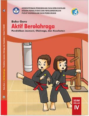 Buku Guru PJOK Kelas-4 SD MI K13 Revisi 2021