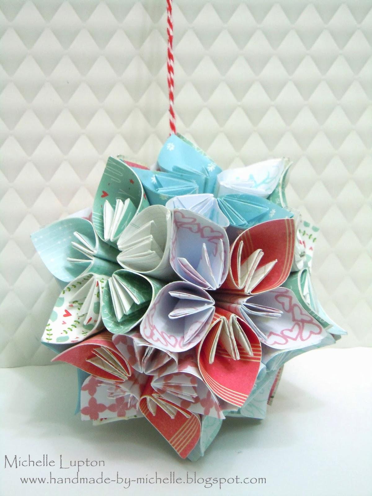 Origami Paper Flower Ball Tutorial Akbaeenw