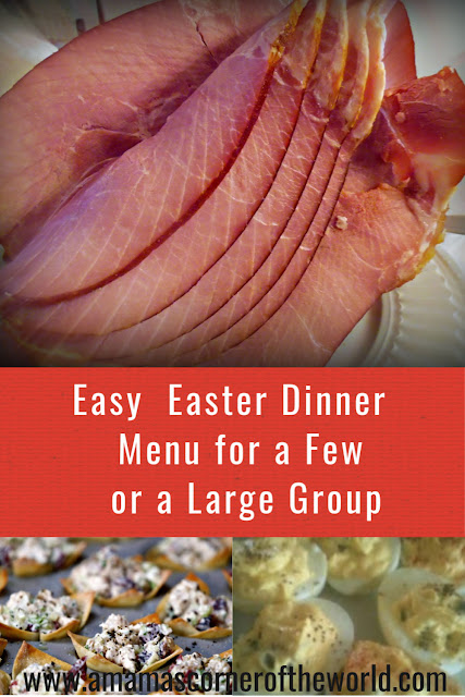 Pinnable image for an easy Easter dinner menu.