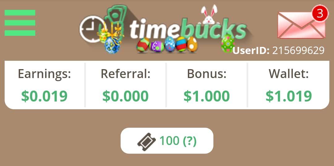 Timebucks Earning Proof