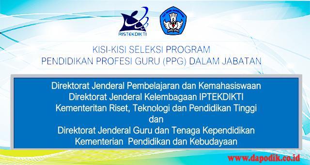 Kisi-kisi Soal Pretest PPG dalam Jabatan Terbaru