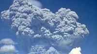 Smoke erupting from Mount Pinatubo in 1991. (Credit: Richard P. Hoblitt/U.S. Geological Survey) Click to Enlarge.