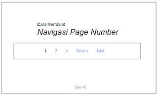 Cara Membuat Navigasi Page Number Untuk Template Blogger Terbaru