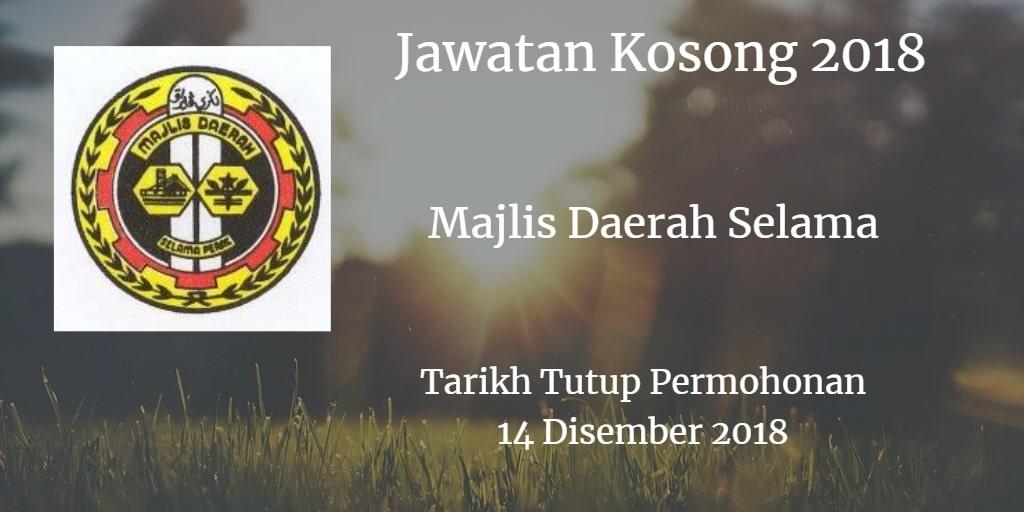 Jawatan Kosong Majlis Daerah Selama 14 Disember 2018