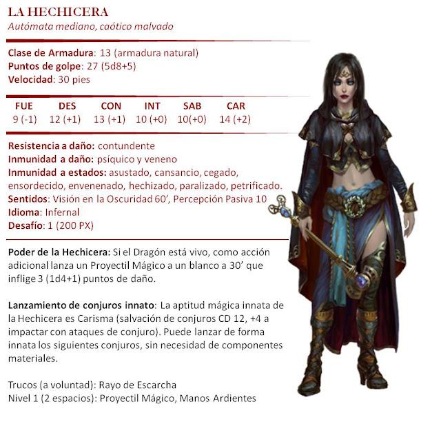 Monstruos D&D 5ª Edición - Marionetas Titiritero Hechicera
