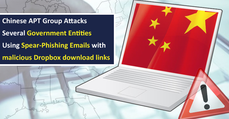 Chinese APT Group Attacks Several Government Entities Using Weaponized Dropbox Download Links