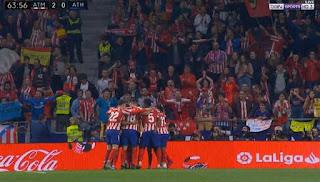 اهداف مباراة اتلتيكو مدريد واتلتيك بلباو في الدوري الاسباني