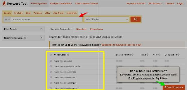 Keywordtool.io Pro Free