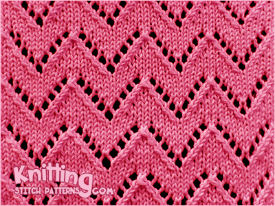 Chevron 1 Knitting Stitch Patterns
