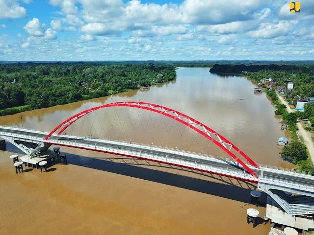 Rampung 100%, Jembatan Tumbang Samba Siap Diresmikan untuk Dukung Konektivitas Program Lumbung Pangan Baru di Kalimantan Tengah