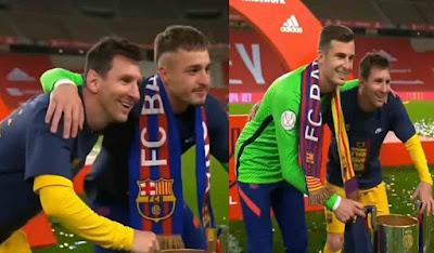 Teman Sendiri Minta Foto Bareng, Lionel Messi Jadi Seleb di Lapangan