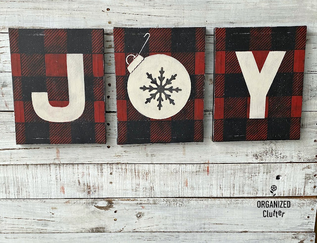 Dollar Tree DIY Christmas Stenciled Art Canvases