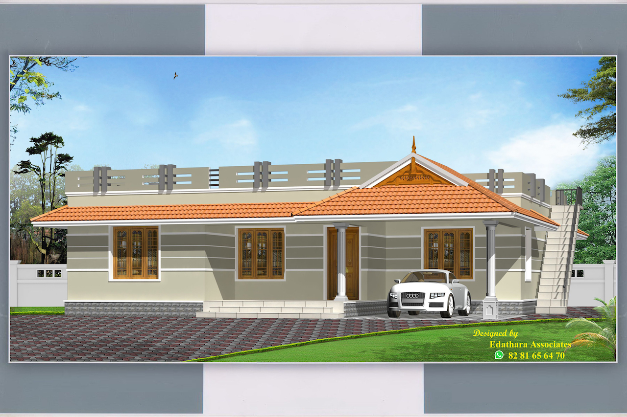 1136 Sq Ft Traditional Single Floor Kerala Home