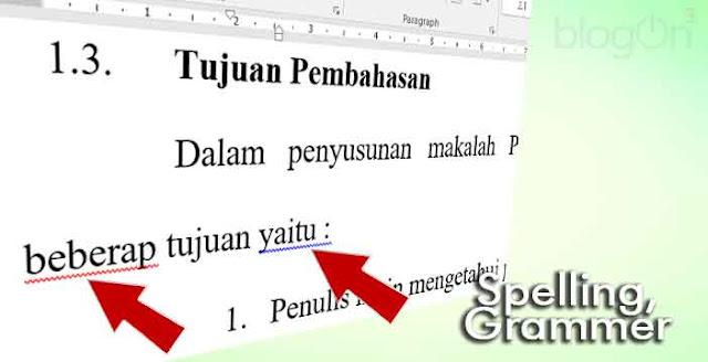 Aktifkan Spelling and Grammer Bahasa Indonesia pada MS Word