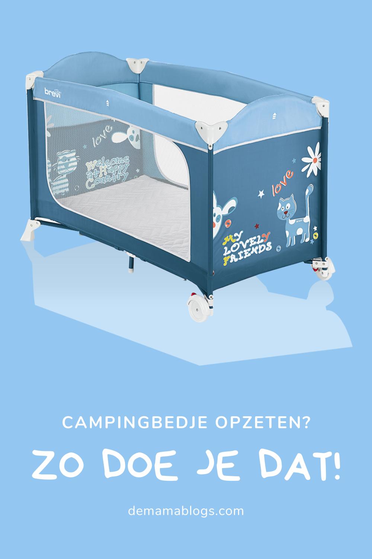 Campingbedje opzetten