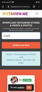 Download video dari instastory instagram