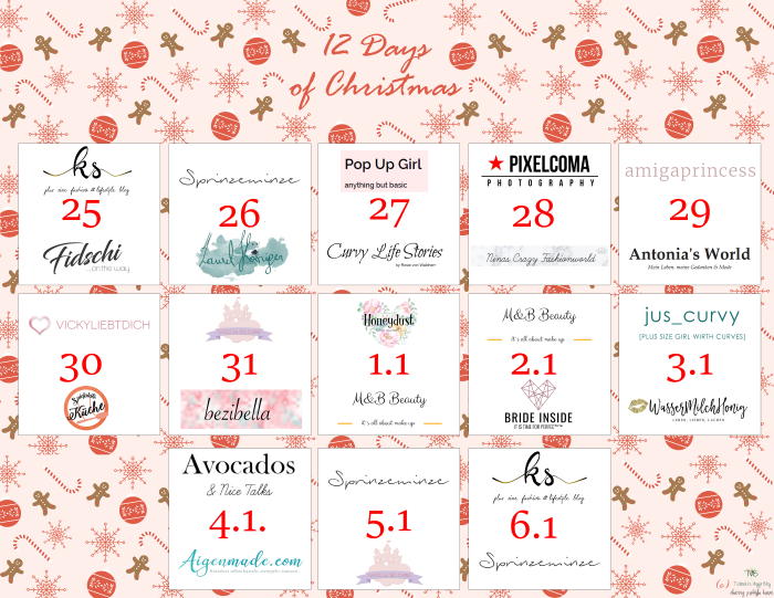 Blogger Adventkalender Österreich 12 Days of Christmas